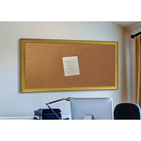 American Made Rayne Vintage Gold Corkboard