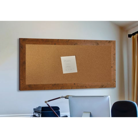 American Made Rayne Rustic Light Walnut Corkboard