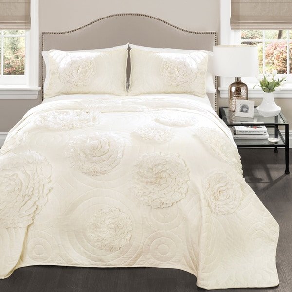 Lush Decor Serena Ivory 3-piece Quilt Set - Free Shipping Today ... : ivory king quilt - Adamdwight.com