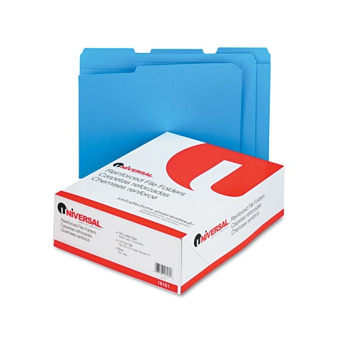 Universal One Blue Colored File Folders (Box of 100)