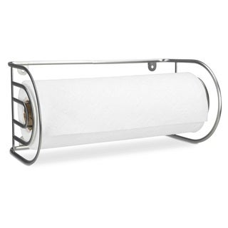 Home Basics Satin Nickel Wall-mounted Paper Towel Holder