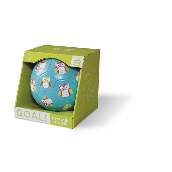 Crocodile Creek Kid's 7-inch Turquoise Owl Size-3 Soccer Ball