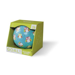 Crocodile Creek Kid's 7-inch Turquoise Owl Size-3 Soccer Ball
