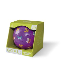 Crocodile Creek Kid's Purple 7-inch Size 3 Butterflies Soccer Ball