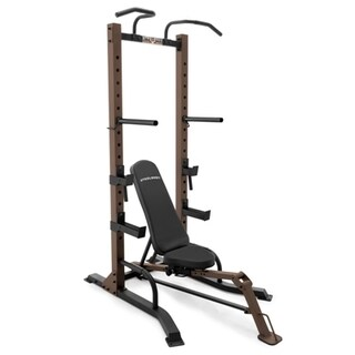 Steel Body Power Tower and Fold-up Bench Home Gym Equipment