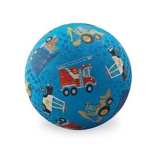 Crocodile Creek 7-inch Blue Vehicles Rubber Playground Ball