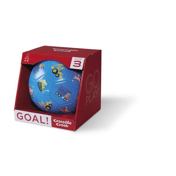 Crocodile Creek Kids' 7-inch Blue Vehicles Size-3 Soccer Ball