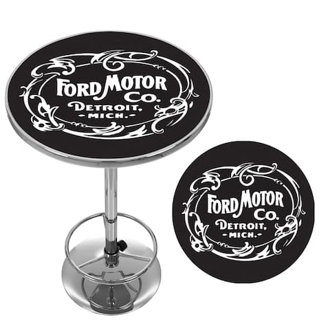 Ford Chrome Pub Table - Vintage 1903 Ford Motor Co.
