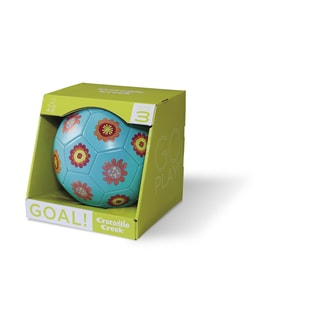 Crocodile Creek Children's Flowers Turquoise 7-inch Soccer Ball Size 3