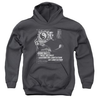 Bruce Lee/No Way As A Way Youth Pull-Over Hoodie in Charcoal