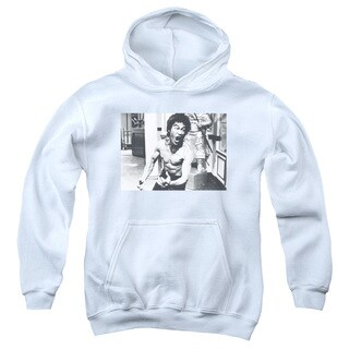 Bruce Lee/Full Of Fury Youth Pull-Over Hoodie in White