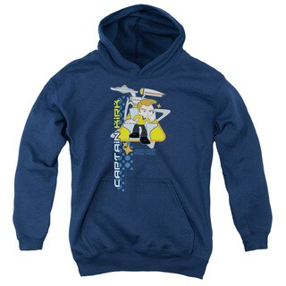 Quogs/Captain's Chair Youth Pull-Over Hoodie in Navy