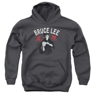 Bruce Lee/Ready Youth Pull-Over Hoodie in Charcoal