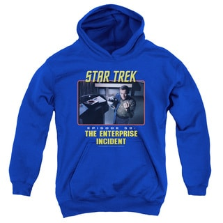 St Original/The Enterprise Incident Youth Pull-Over Hoodie in Royal