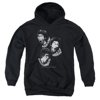Bruce Lee/Sounds Of The Dragon Youth Pull-Over Hoodie in Black