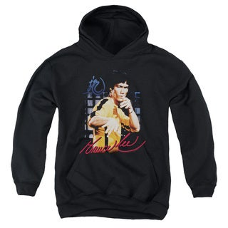 Bruce Lee/Yellow Jumpsuit Youth Pull-Over Hoodie in Black