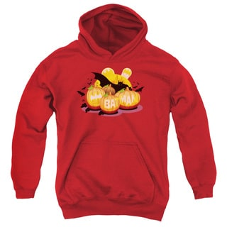 Batman/Bat O Lanterns Youth Pull-Over Hoodie in Red