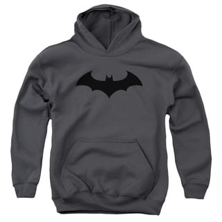 Batman/Hush Logo Youth Pull-Over Hoodie in Charcoal
