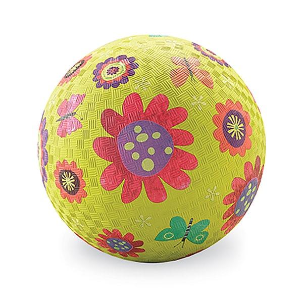 Crocodile Creek Flower Garden Green Rubber 7-inch Playground Ball