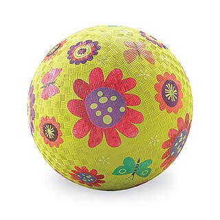 Crocodile Creek Flower Garden Green Rubber 7-inch Playground Ball