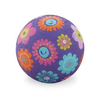 Crocodile Creek 7-inch Purple Flowers Playground Ball