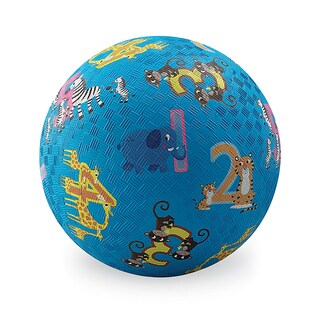 Crocodile Creek Jungle Animals and Numbers 7-inch Playground Ball