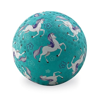 Crocodile Creek Horses Turquoise 7-inch BPA-free Playground Ball