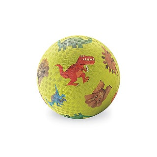 Crocodile Creek Dinosaurs Green Rubber 7-inch Playground Ball