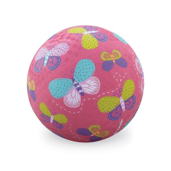 Crocodile Creek Pink Butterflies 7-inch Playground Ball