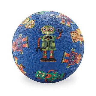 Crocodile Creek 7-inch Blue Robots Playground Ball
