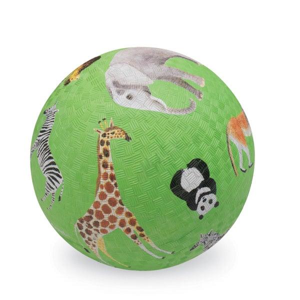Crocodile Creek 7-inch Green Wild Animals Playground Ball