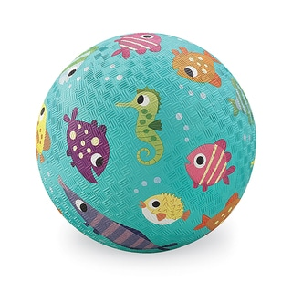 Crocodile Creek Turquoise Fish Rubber 7-inch Playground Ball