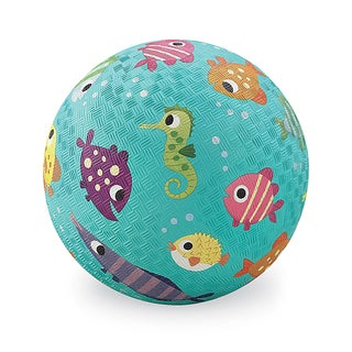 Crocodile Creek Turquoise Fish Rubber 7-inch Playground Ball
