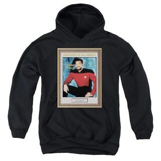 Star Trek/Employee Of Month Youth Pull-Over Hoodie in Black