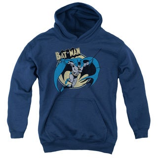 Batman/Through The Night Youth Pull-Over Hoodie in Navy