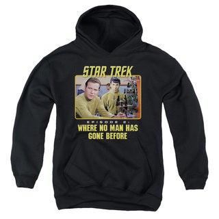 Star Trek/Episode 2 Youth Pull-Over Hoodie in Black