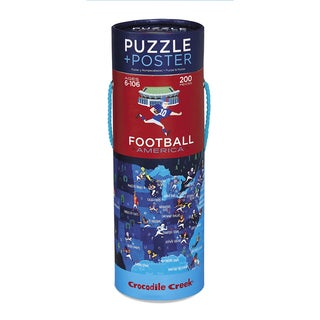 Crocodile Creek Football America 200-piece Jigsaw Puzzle and Matching Poster