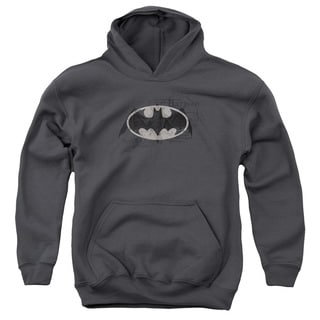 Batman/Arcane Bat Logo Youth Pull-Over Hoodie in Charcoal