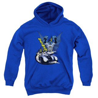 Batman/By Air & By Land Youth Pull-Over Hoodie in Royal