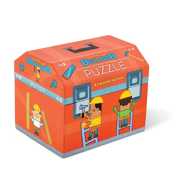 Crocodile Creek Little Builder 48-piece Jigsaw Puzzle in Tool Box-shaped Box