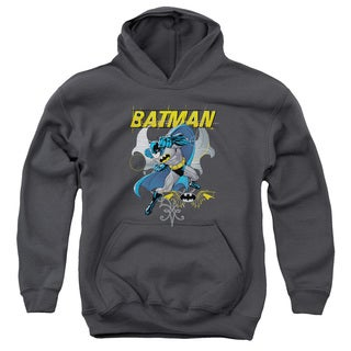 Batman/Urban Gothic Youth Pull-Over Hoodie in Charcoal