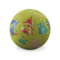 Crocodile Creek Woodland Animals Lime Green 7-inch Playground Ball
