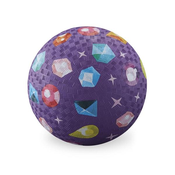 Crocodile Creek 7-inch Purple Rubber Playground Ball