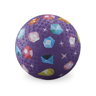 Crocodile Creek 7-inch Purple Rubber Playground Ball