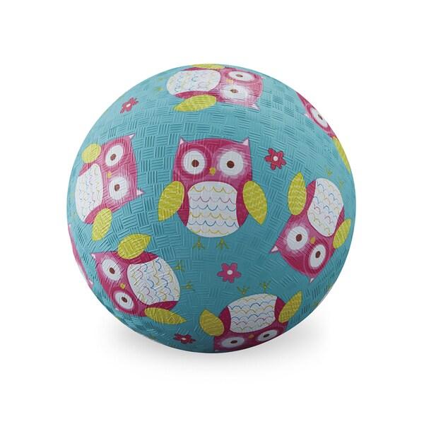 Crocodile Creek Turquoise Rubber Kids' 7-inch Owl Playground Ball