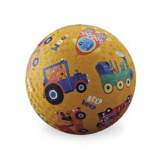 Crocodile Creek 7-inch Yellow Vehicle Sounds Playground Ball