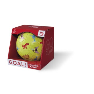 Crocodile Creek Kid's Lime Green 7-inch Size 3 Dinosaurs Soccer Ball