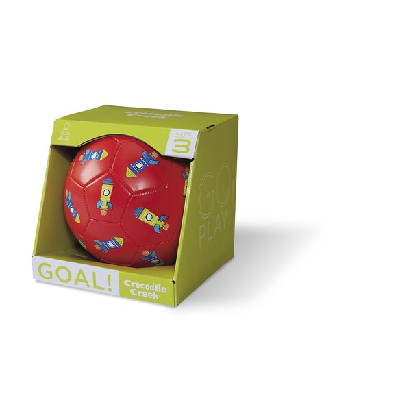 Crocodile Creek Kids' Rockets Red 7-inch Size 3 Soccer Ball