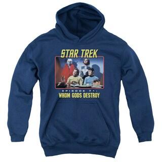 Star Trek/Episode 71 Youth Pull-Over Hoodie in Navy