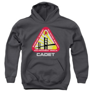 Star Trek/Starfleet Cadet Youth Pull-Over Hoodie in Charcoal